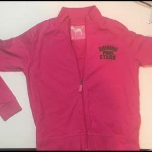 T~ Pink brand zip up hoodie.